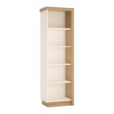 Nyitott polcos szekrény balos, fehér-tölgy - ARIZONA